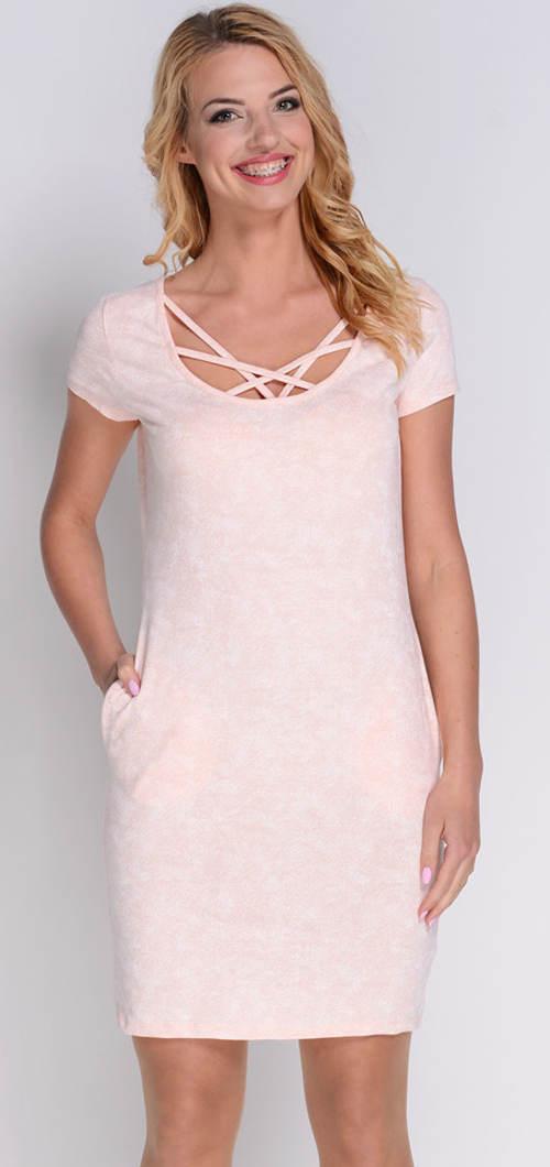 Béžové letní šaty Avaro