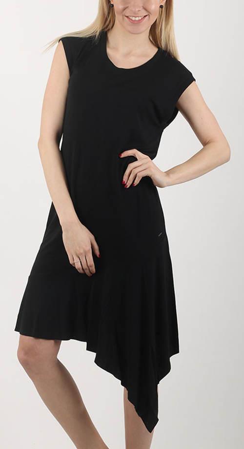 Černé asymetrické šaty Diesel