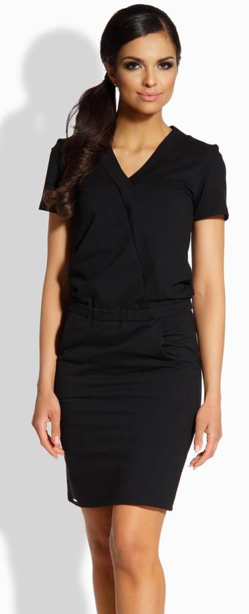 Černé letní šaty sportovního střihu