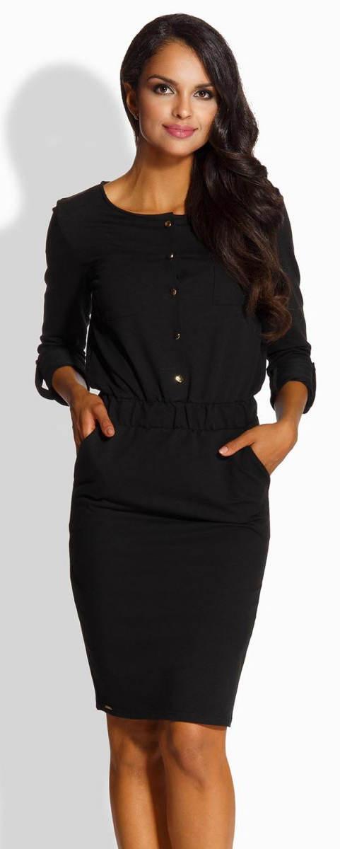 Černé šaty s kapsami