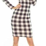 Černo-růžově kárované šaty Numoco 165-1