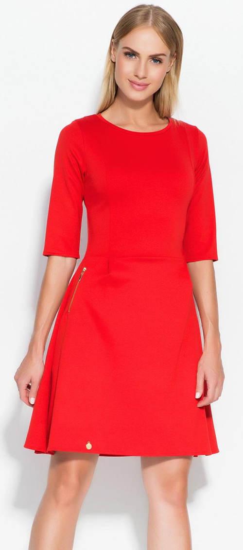 Červené dámské šaty Makadamia M316