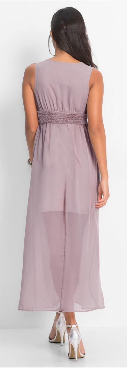 Fialovo-růžové dlouhé plesové šaty