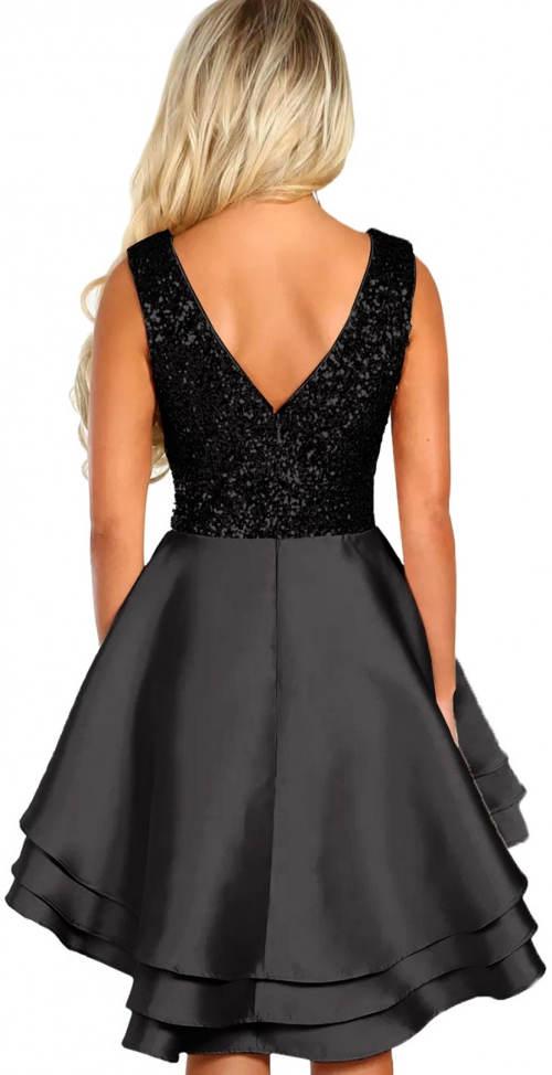 Flitrové šaty s širokou sukní