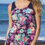 Květinové fialové letní šaty Fiona
