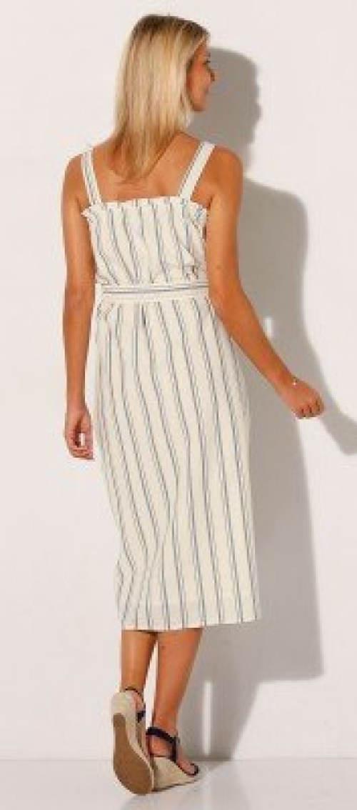 Letní šaty z bavlny a lnu