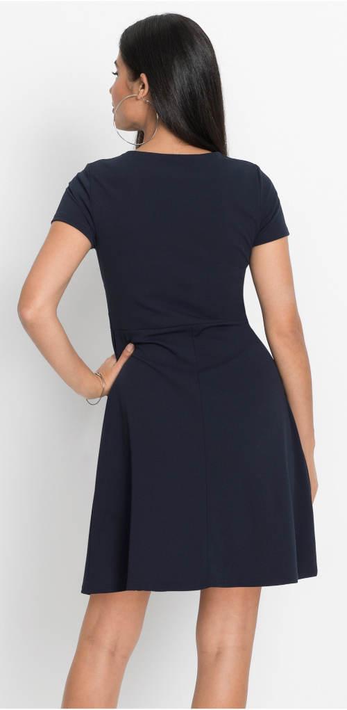 Tmavě modré dámské šaty Bonprix