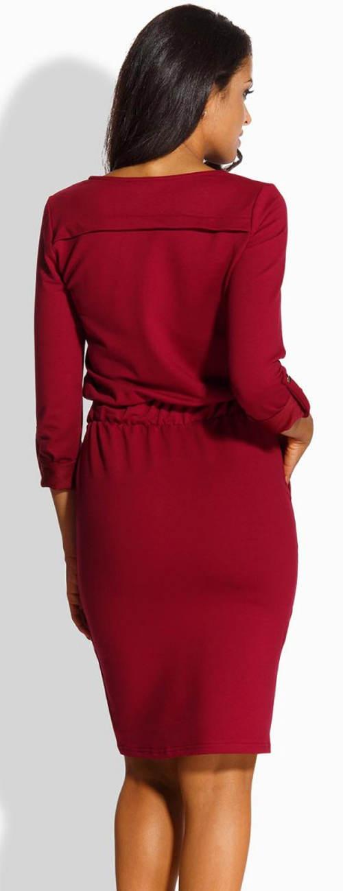 Vínové dámské šaty Lemoniade L224