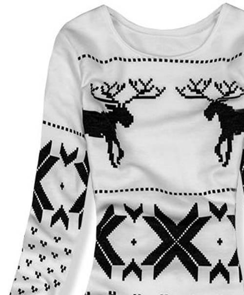 Zimní šaty s vánočním motivem