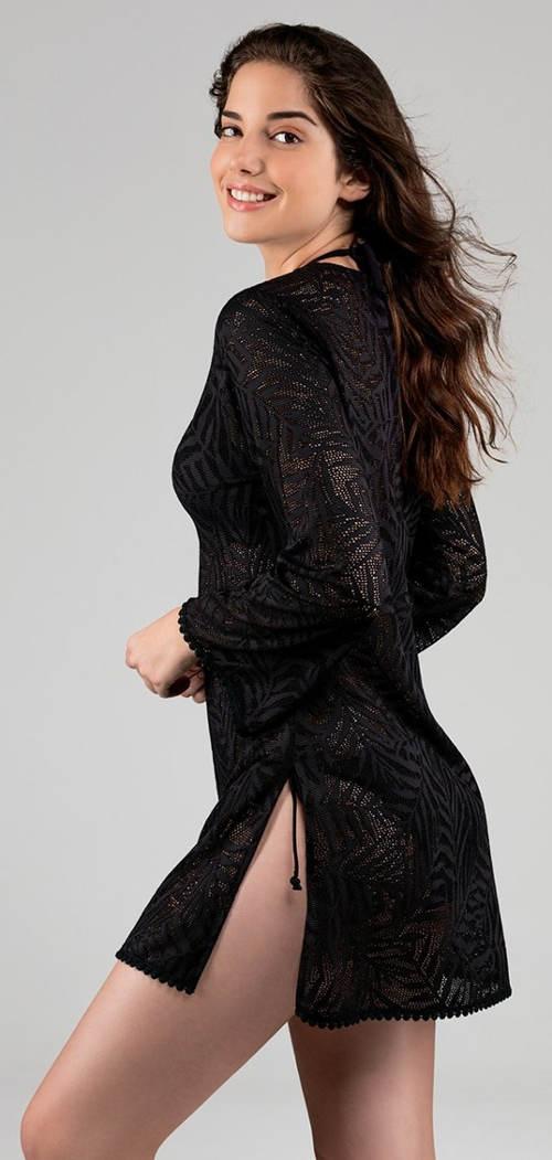 Černé plážové šaty Astratex