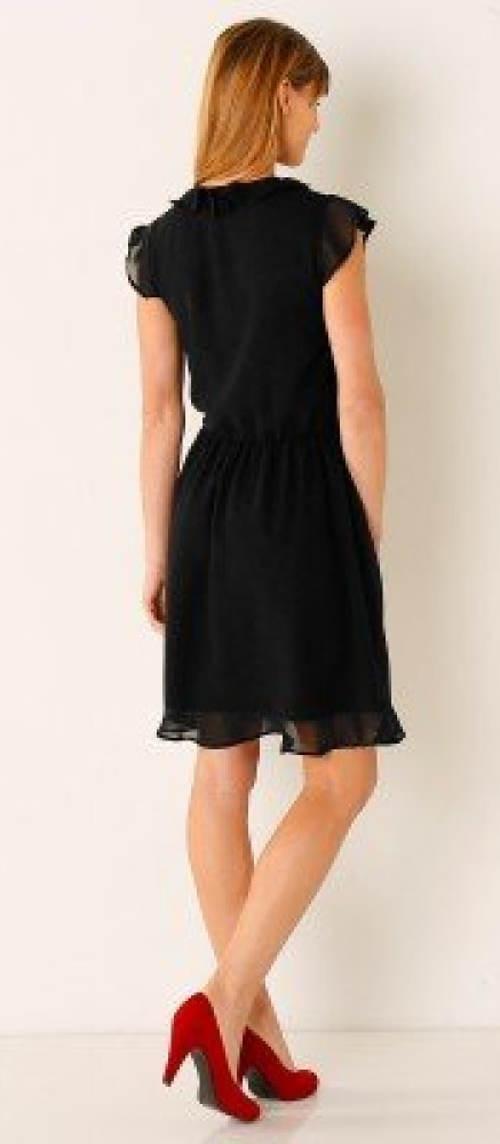 Černé letní šaty ke kolenům