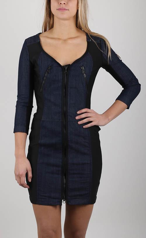 Dámské džínové pouzdrové šaty Replay
