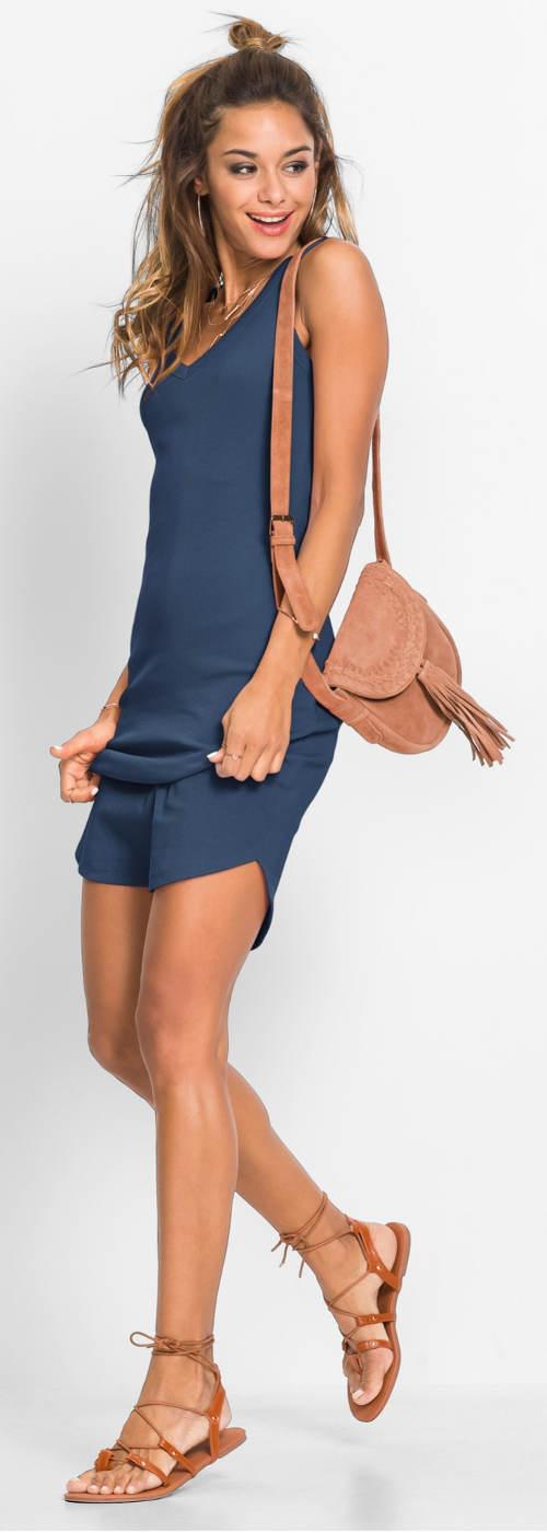 Levné modré letní sportovní šaty