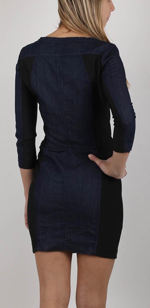 Modro-černé džínové šaty Replay