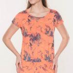 Oranžové batikované letní šaty