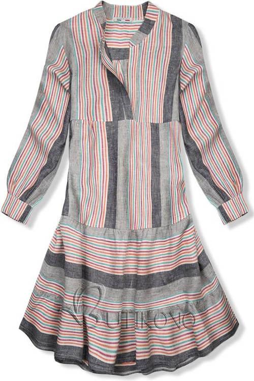 Pohodlné lněné letní oversized šaty