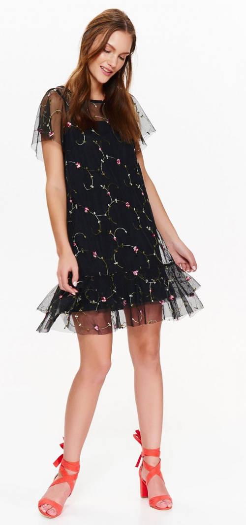 Šaty s šifónovým volánkem na sukni