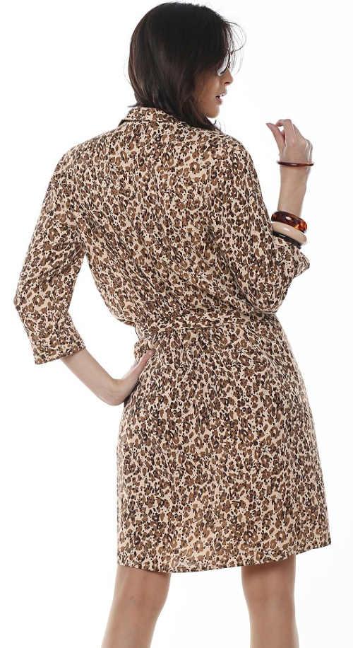 XXL šaty s leopardím potiskem