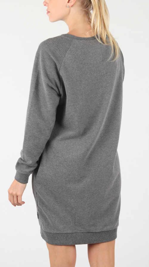 Zimní šedé mikinové šaty k leginám