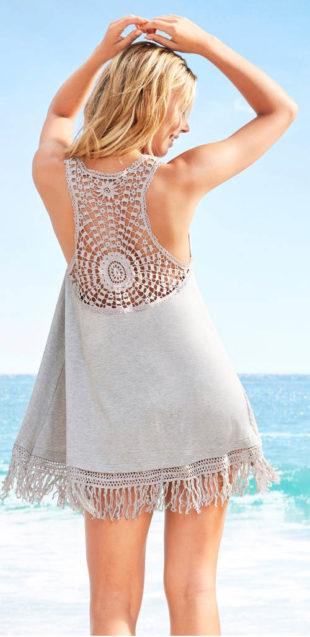Bavlněné letní šaty s krajkovými zády