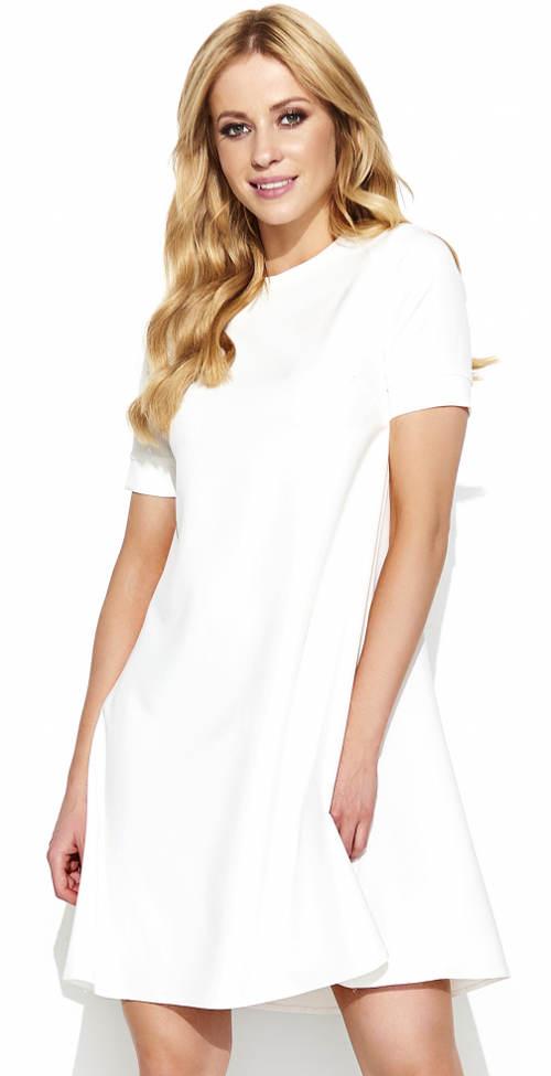 Bílé dámské šaty Makadamia