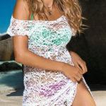 Bílé plážové šaty Joanna s velkými oky