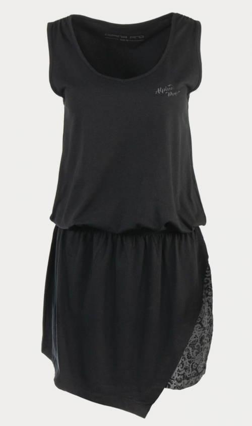 Černé dámské šaty Alpine Pro Lastia