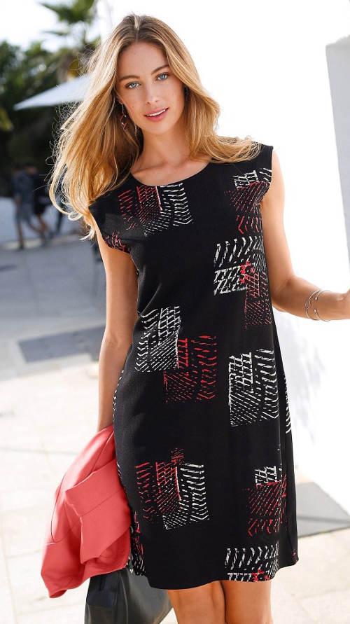 Černé letní šaty pro plnoštíhlé