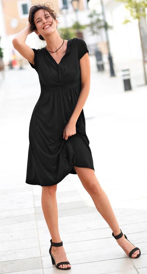 Černé letní šaty výprodej