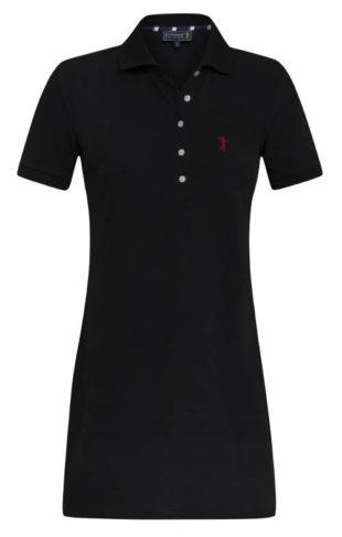 Černé polokošilové šaty s límečkem