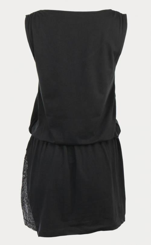 Černé šaty s pasem do gumy