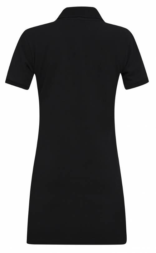 Černé sportovní šaty s krátkým rukávem