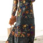 Dlouhé boho šaty s krajkovými vsadkami