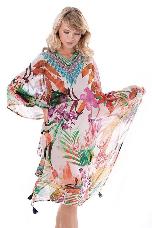 Dlouhé šifónové plážové šaty