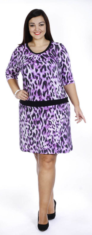 Leopardí letní šaty pro plnoštíhlé