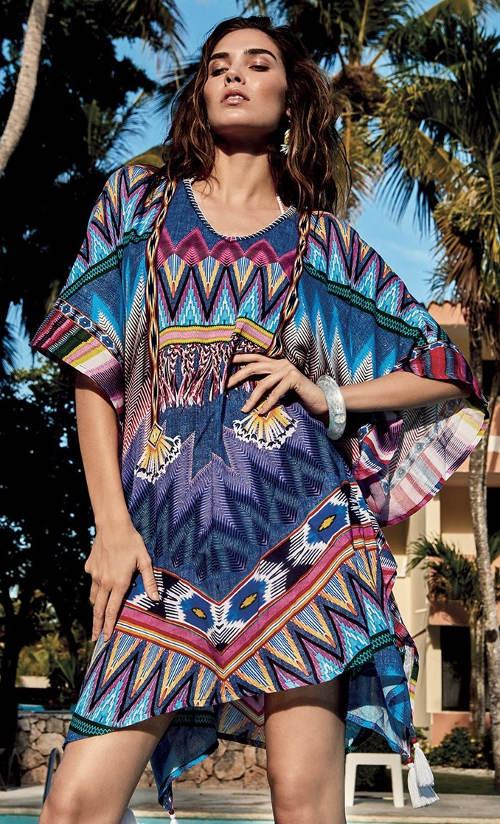 Luxusní plážové etno šaty Vacanze