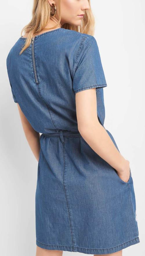 Modré denimové šaty Orsay