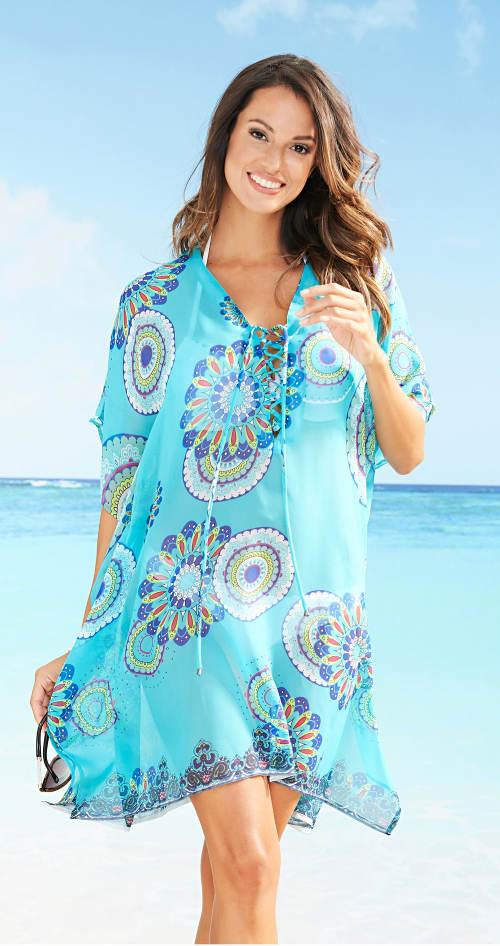 Plážové šaty se šněrováním