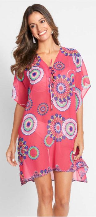 Průsvitné šifónové plážové šaty