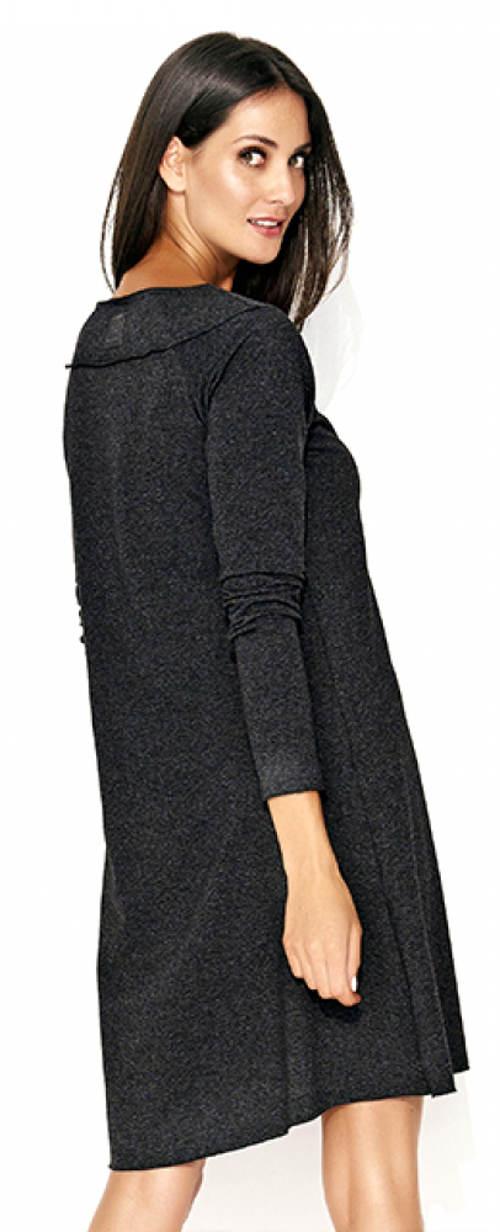 Šaty s dlouhým rukávem vhodné pro těhotné