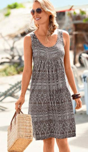 Žeržejové dámské šaty s etno vzorem