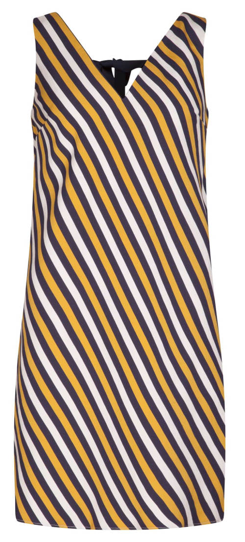 Dámské šaty s barevnými proužky