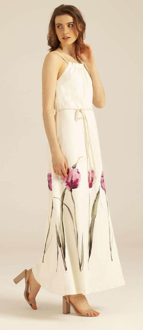 Dlouhé květinové letní šaty Pietro Filipi