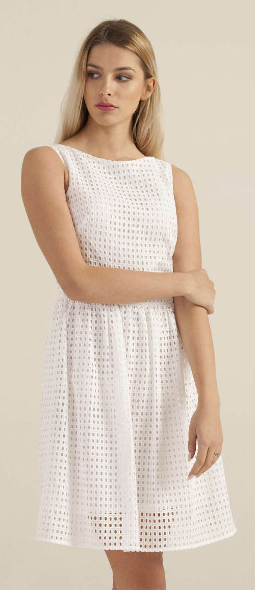 Jednobarevné bílé šaty Pietro Filipi