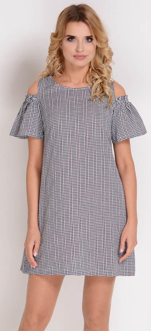 Jednoduché karované letní šaty
