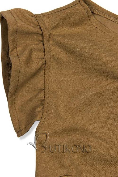 Krátké volánkové rukávy letních šatů