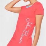 Letní tričkové dámské šaty