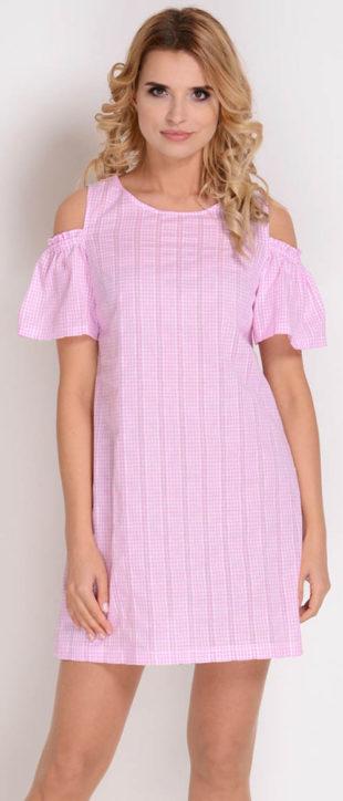 Levné dámské letní šaty s drobnou kostičkou