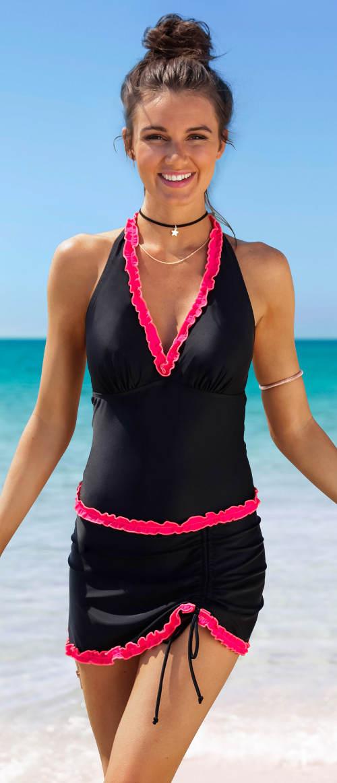 Moderní plavkové šaty Bonprix