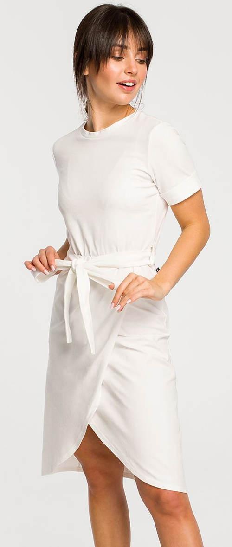 Smetanové sportovní šaty se zavinovací sukní